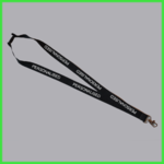 Black Personalised Lanyard