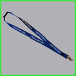 Navy Blue Personalised Lanyard