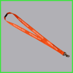 Orange Personalised Lanyard