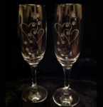 Paws & Hearts Champagne Flutes