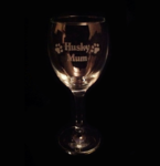 Husky Mum Wine Glass