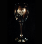 Heart & Paws Wine Glass