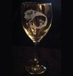 Curled Husky Wine Glass
