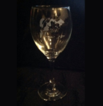 Husky Puppy Wine Glass