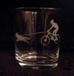 Bike Joring Whiskey Glass