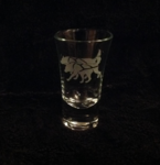 Sled Team Shot Glass