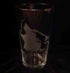 Howling Husky Pint Glass
