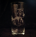 Cartoon Husky Hi-Ball Glass