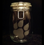 Paw Glass Jar